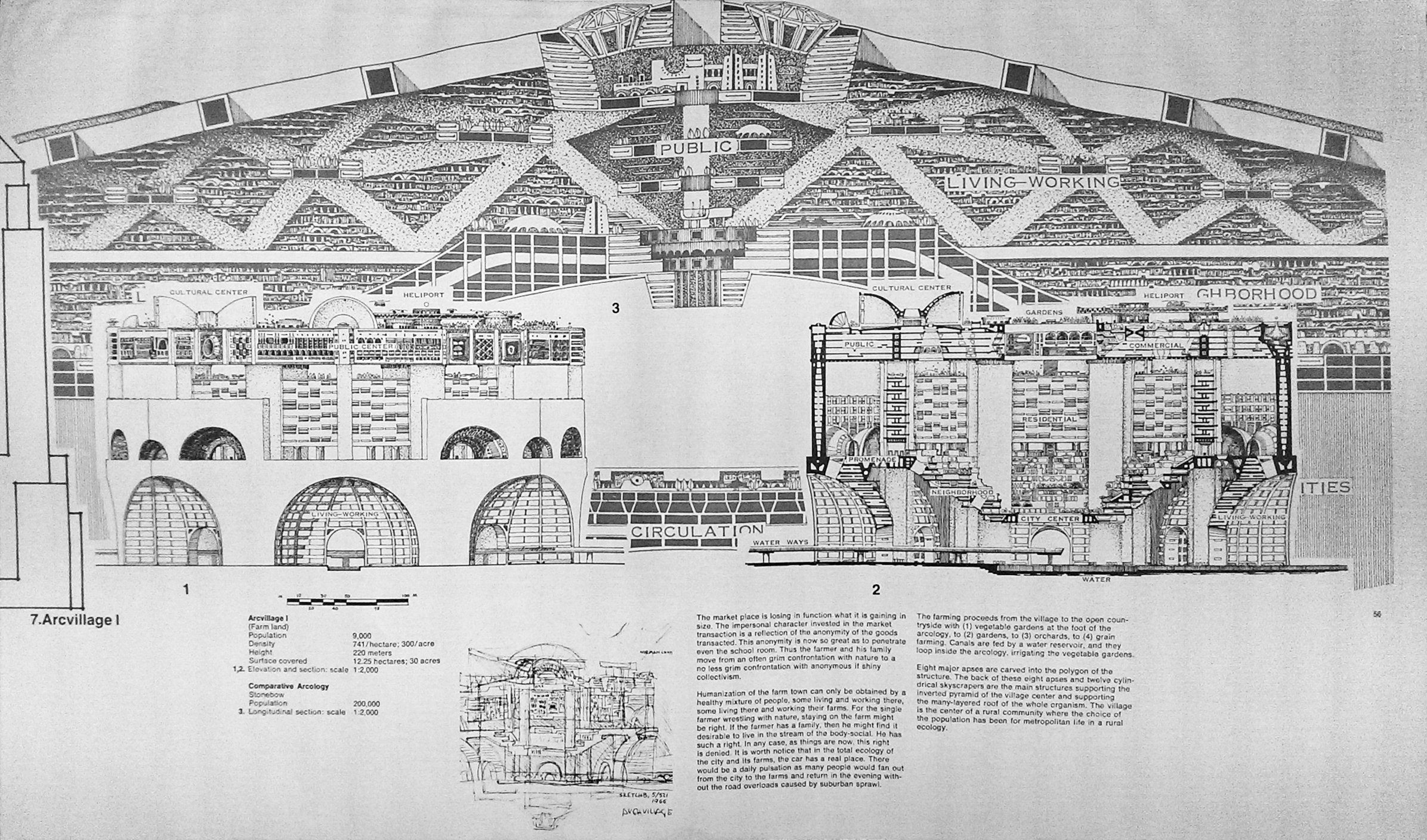 """Arcology - The City In The Image Of Man"""" by Paolo Soleri"""